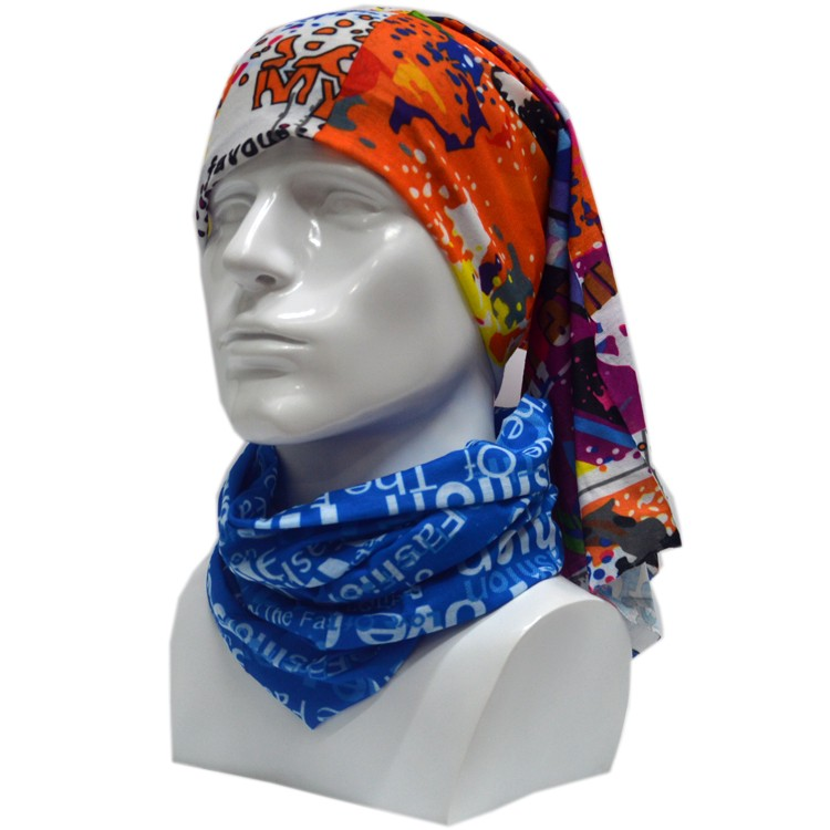 Custom Funny Tubular Outdoor Sport Kerchief Headscarf Bib With Logo