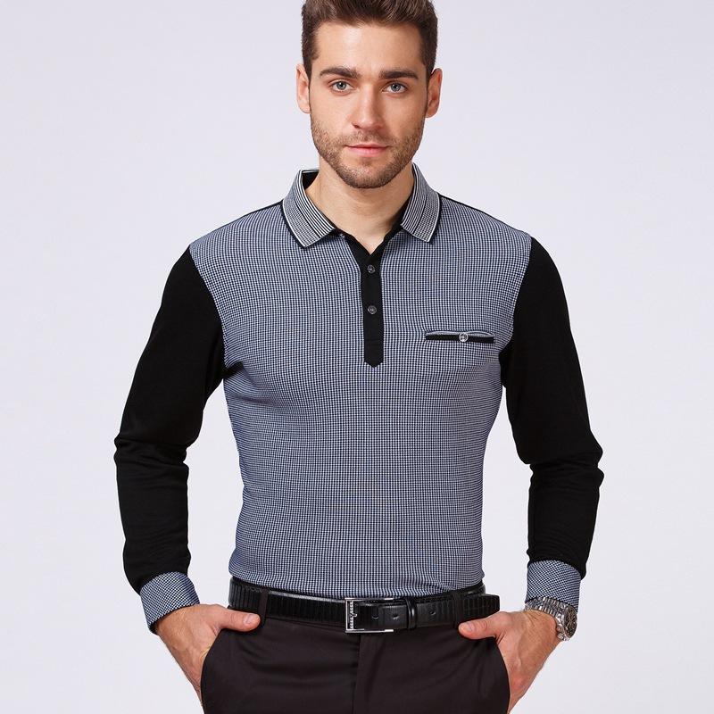 Mens Polo Shirt Brands 2018 Male Long Sleeve Fashion ...   Men Polo Long Sleeve Dress