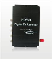 High quality Car Digital TV Receiver Tuner Car ATSC TV Set Top Box for Car Lcd Monitors