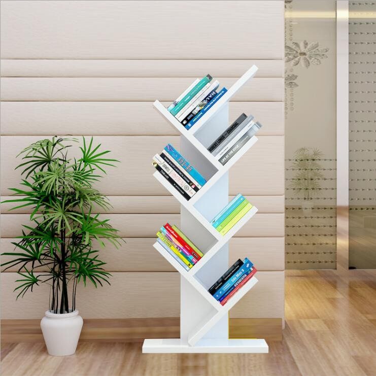 Custom Moderate Price Tree Shape Antique Corner Book Shelf Bookcase
