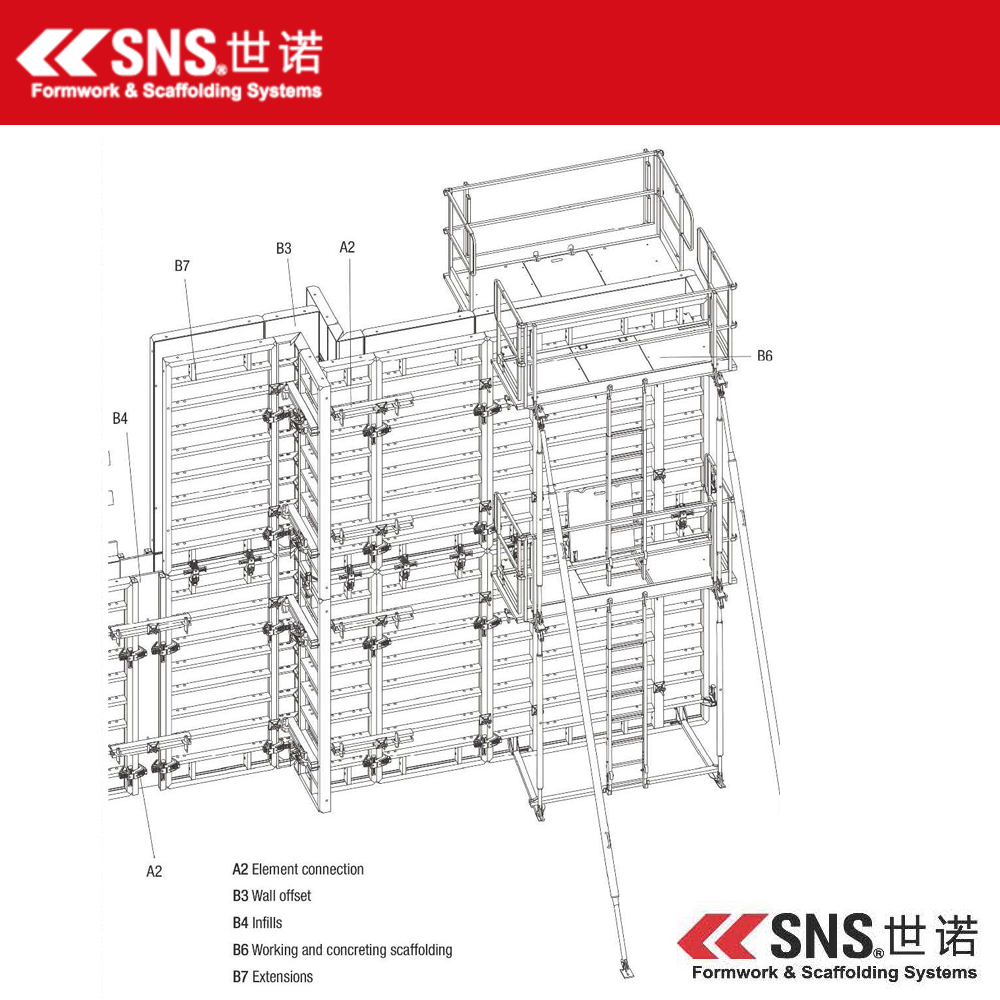steel formwork for concrete