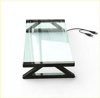 2019 Transparent Glass Plastic Computer Monitor Riser School PC Equipment Monitor Stand