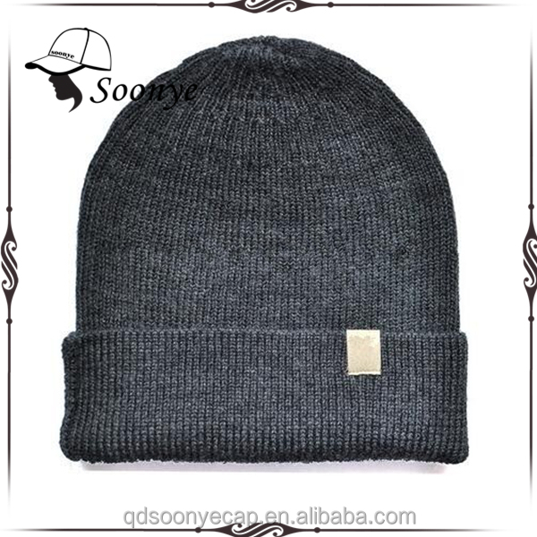 100% wool unisex Beanie Hat Sports warmer thermal winter outdoors Knit Cap