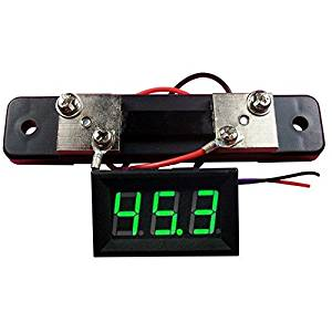 Angelelec DIY Open Source Power Module, Green Led 50A DC AMMeter, Adopts Wide Voltage Power Supply (4-30V), Includes a Reverse Protection, Very Suitable for Integration On the ROBOT Project Low Power