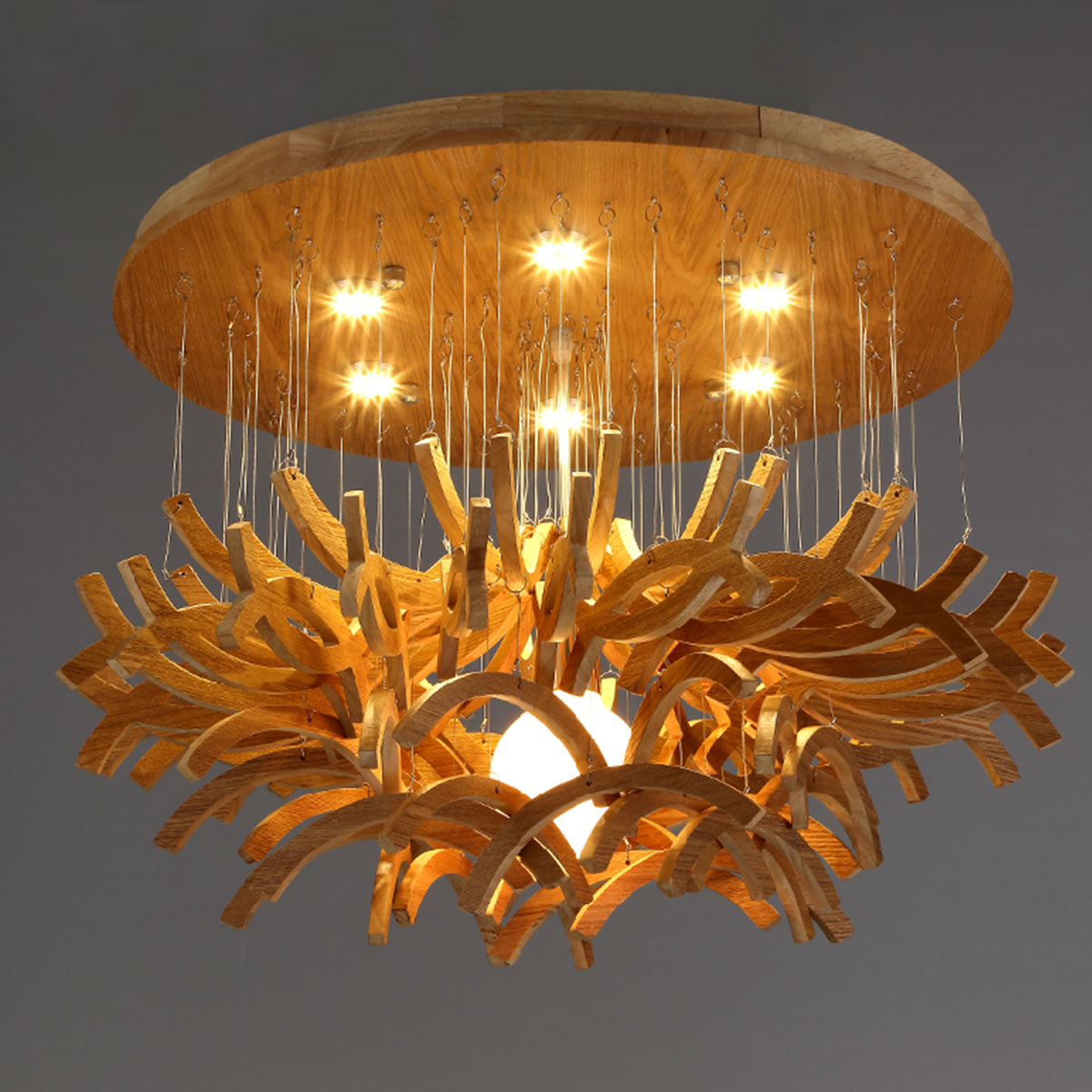 Wood Chandeliers For Dining Room: Modern Chandelier Northern European Wood Chandelier Wooden