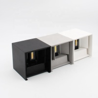 Exterior Cube Aluminum Asway Light Beam Outdoor Wall Light Up Down Wall Lamp Garden Porch Light 100-240V