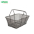 Black retail shopping baskets