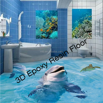 Scratch Resistant D Epoxy Resin Floor For Bathroom Buy Scratch - 3d acrylic floors