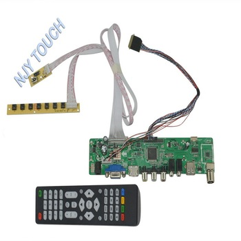 8d791569263 Hd Mi Usb Av Vga Universal Lcd Tv Controller Board Diy Monitor Kit ...
