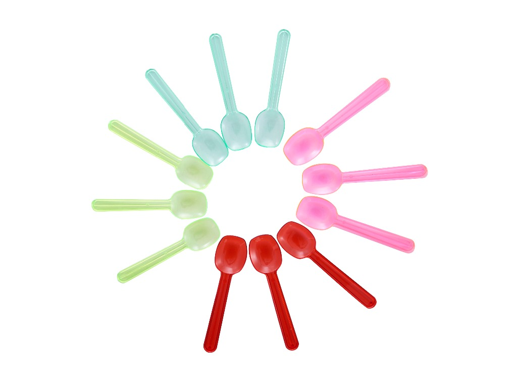wholesale colorful kitchen disposable plastic ice cream spoon