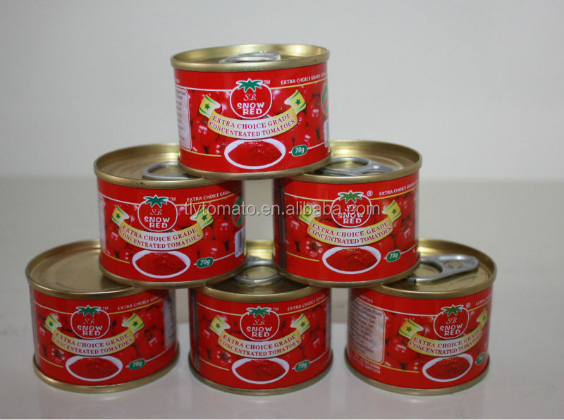 70 g x 100 tins / Ctn brix 22-24% and 28-30%TOMATO PASTE in Cans