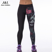 2015 New Sexy Gym Women's Sports Leggings Fitness Workout Trousers 22 Styles 3D Print Running Sport Pants Elastic Slim Jeggings