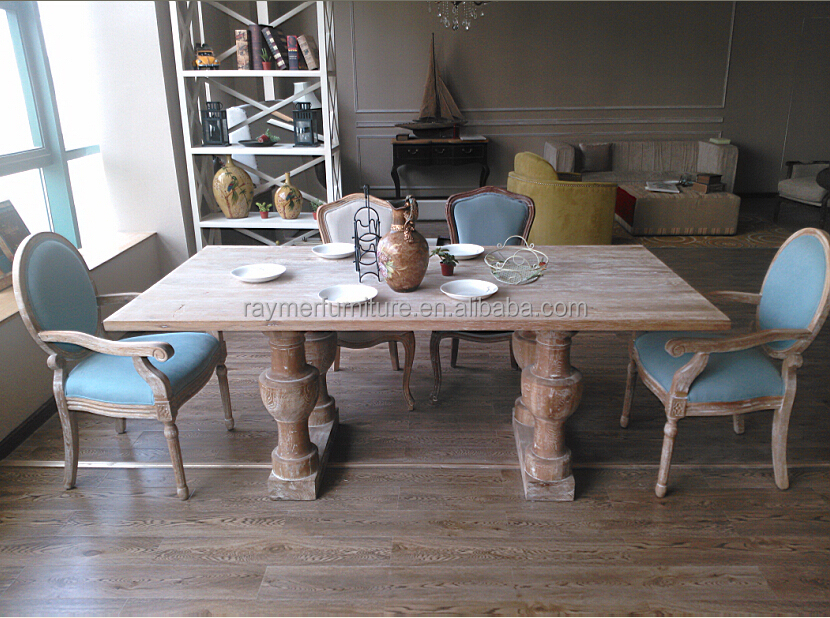 Antique dining room furniture solid oak wood dining tables and chairs