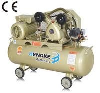 2HP belt-driven piston air compressor CE 50L 2 cylinder head