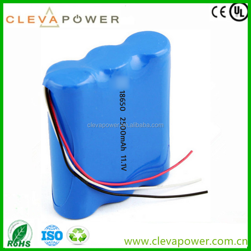 11.1V Rechargeable Lithium Phosphate Battery/Li Ion Battery Pack