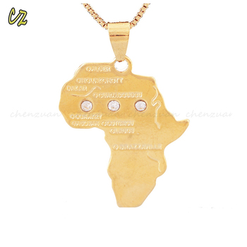 Alibaba top seller world map pendant jewelry 18k gold africa map alibaba top seller world map pendant jewelry 18k gold africa map necklace for men gumiabroncs Image collections