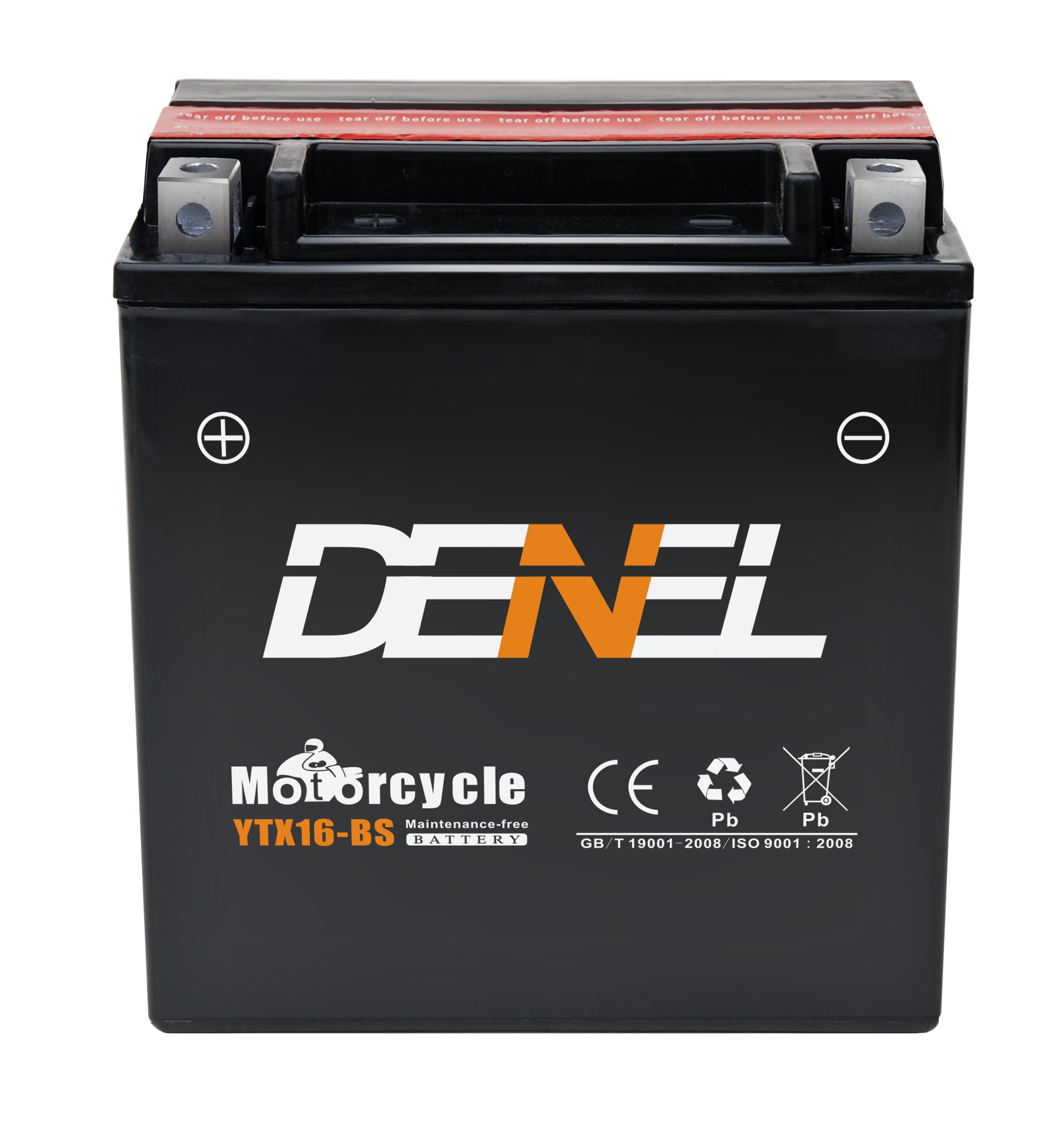YTX16-BS electric motorcycle battery pack 12v 14ah battery for motorcycle