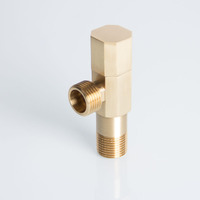 Bathroom hot sale strong and durable brass long angle valve