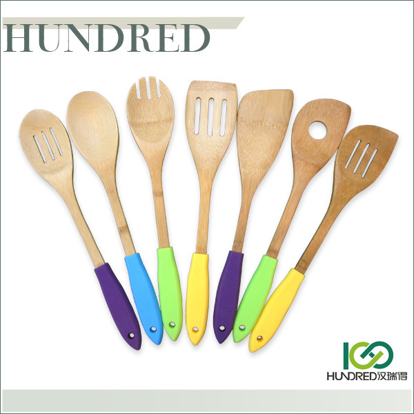 Manufactory Wholesale Natural Color Bamboo Utensils Set