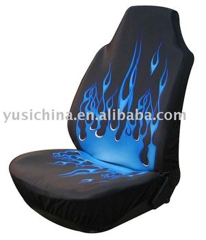 Blue Flame Car Seat Cover