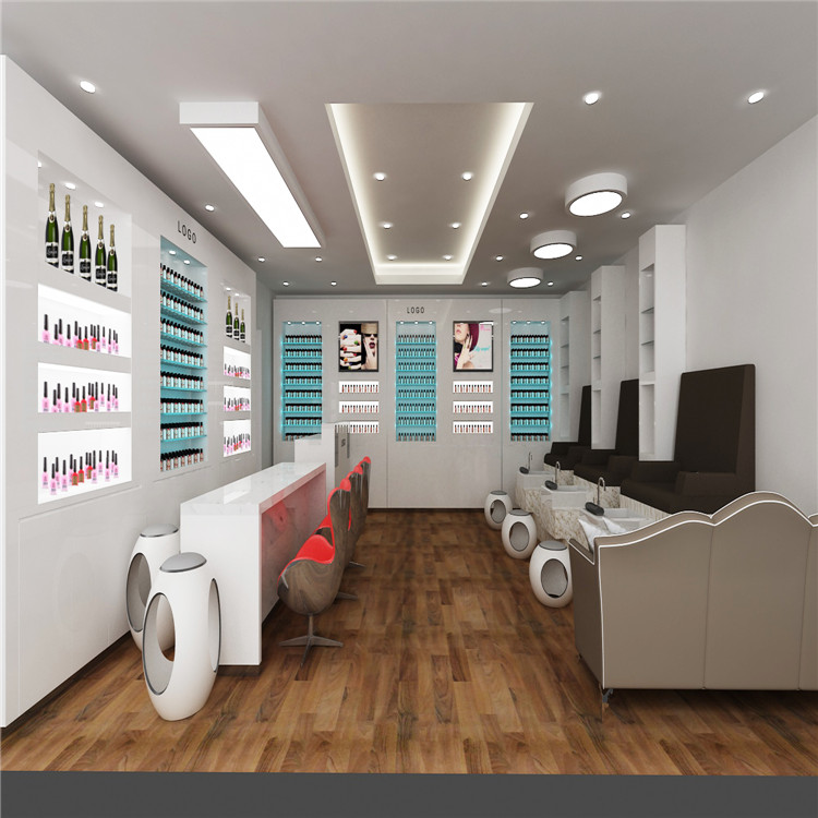 Nail Salon Interior Design With Melamine Display Furniture Used Spa  Manicure Table - Buy Nail Salon Interior Design,Nail Salon Melamine Display  ...