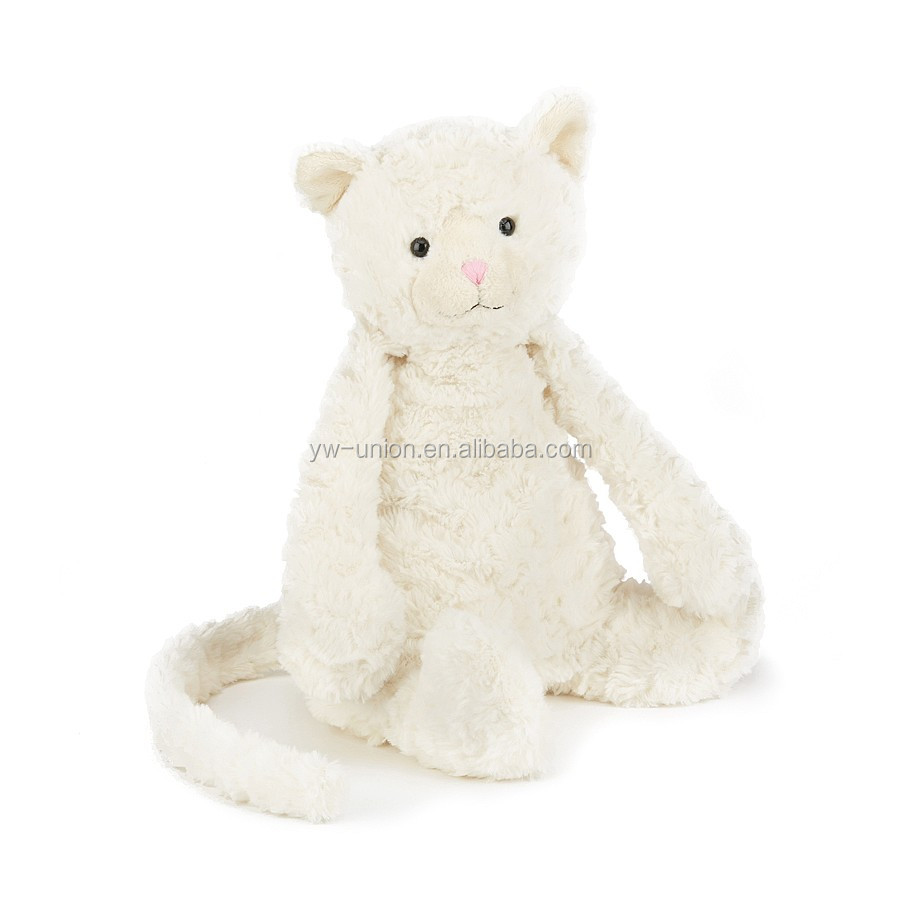 white soft cat toy 35-55cm size for kids plush cute animal cat toy