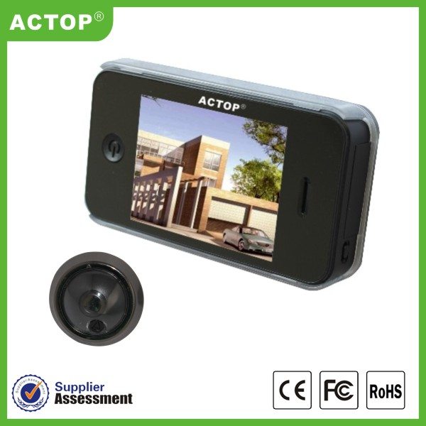2014 China new best night vision wide angle smart take photo digital door viewer