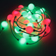 Christmas decoration 35mm 3d custom string rgb led pixel string lights dmx control led disco ball light 12v