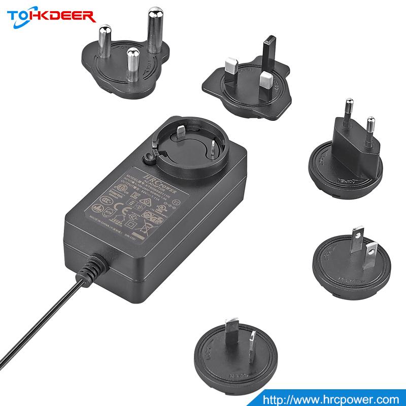 Produsen Adaptor Daya HRC 19V 3,42a Adaptor Daya 65W Catu Daya Dapat Dipertukarkan dengan PSE/CE/Kingston/GS/VI/CB/GS/KC/RoHS