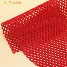 Red 100 % polyester air mesh fabric for lady dress