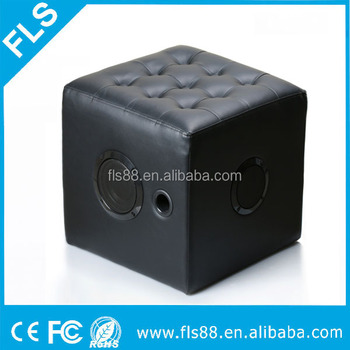 kids children home furniture cube chair seat lounge pvc leather bluetooth speaker