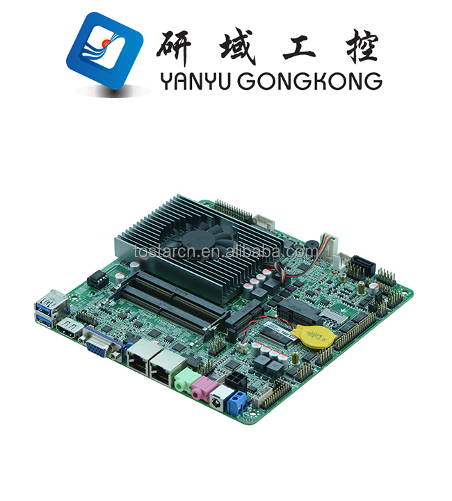China Intel 3855U I3 6100U I5 6300U core i3 i5 i7 Processor ddr4 mini pc thin itx motherboard with 2 lan nic ethernet ports