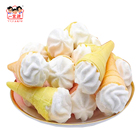 220g Colorful Sweet Ice Cream Cones Marshmallow Crispy Fruit Marshmallow