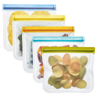 Wholesale Amazon Top Seller 2019 Leakproof FDA Grade Reusable Ziplock PEVA Food Storage Bag