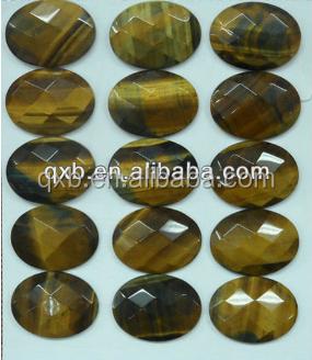 Fashion Cutiing Face Semi Precious Stone Europe Type Natural
