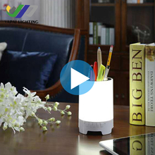 Smart Night Light Wireless Bluetooth Music Speaker, 3 Light Modes , Touch-Sensitive Control Panel table lamp