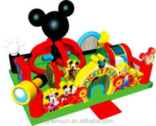 Commercial Mickey Park Learning inflatable bouncy castle for sale