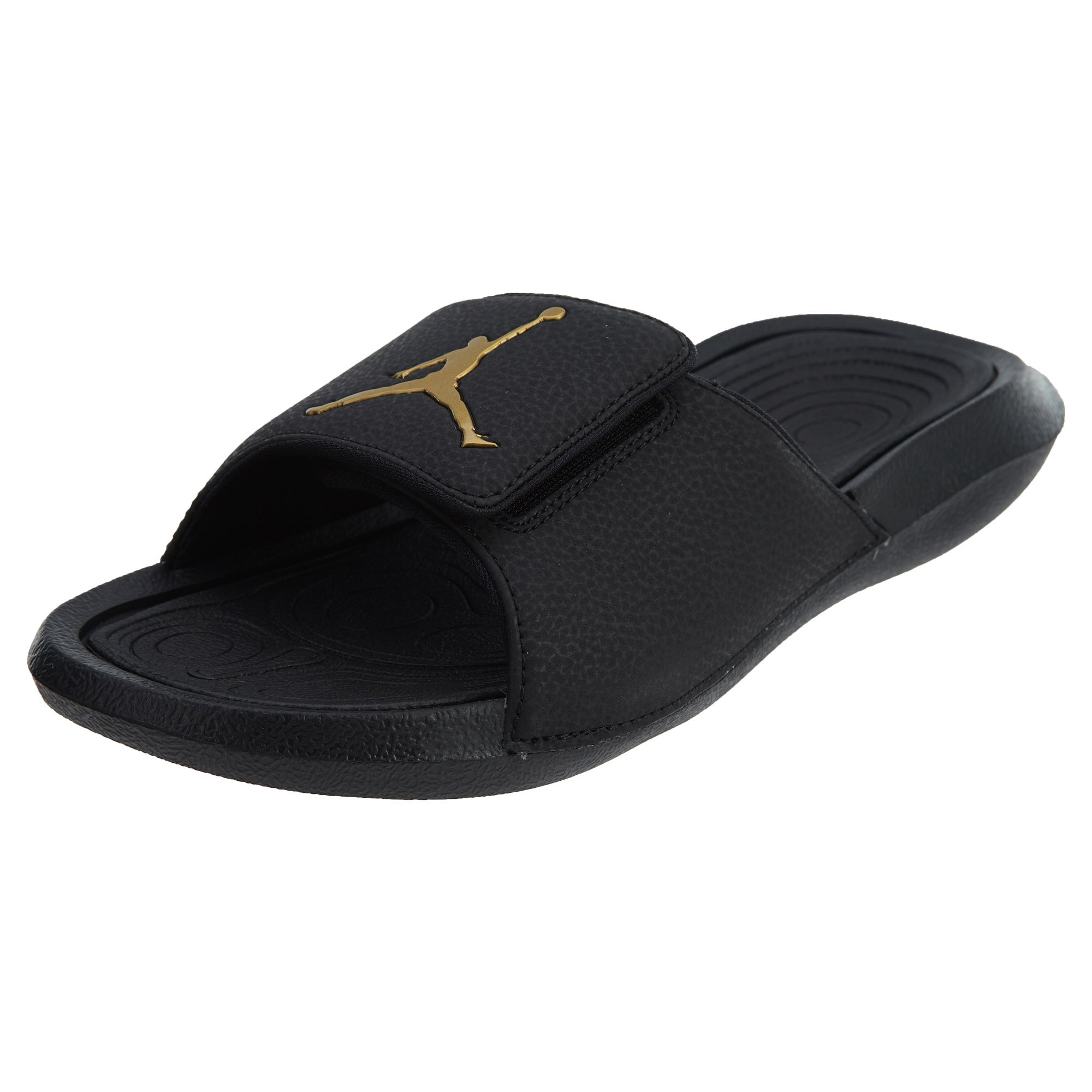 7920aff187bbe5 Get Quotations · Jordan Hydro 6 Men s Slides Black Metallic Gold 881473-033  (12 D(