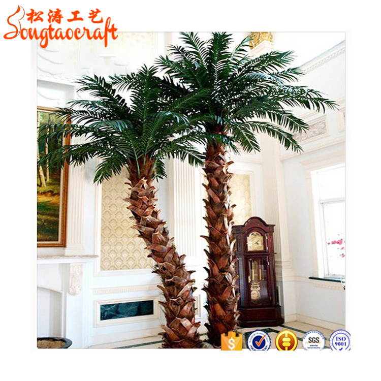 Make cheap outdoor artificial date palm tree and artificial palm tree leaves for Wedding decoration