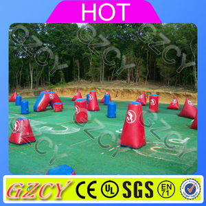Inflatable paintball arena air field, inflatable bunkers paintball for rental