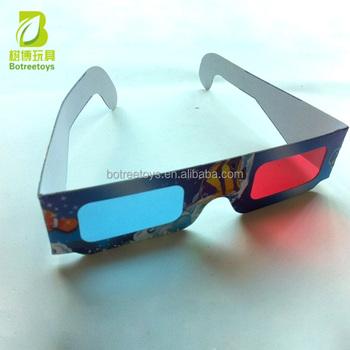 Massal Promosi Genggam Kertas Red-cyan Kacamata 3D Mainan untuk Anak-anak 4988304828