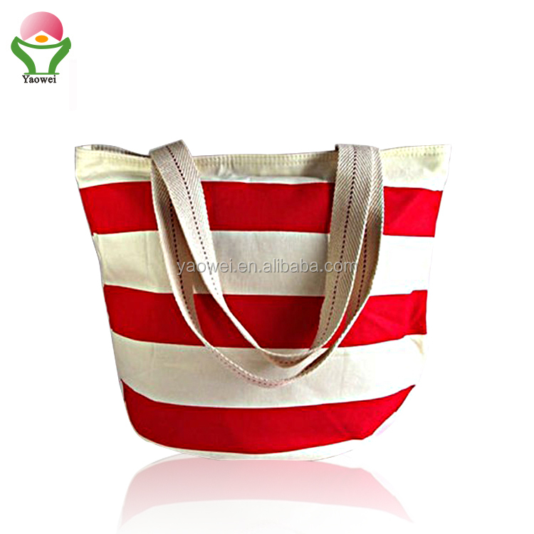 NEW fashion custom 프로모션 12 oz White/red 박탈 Canvas Bag, Beach Bag, 면 tote bag shopping bag