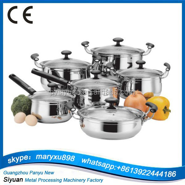Professional Non-stick 12pcs stainless steel cookware for sale