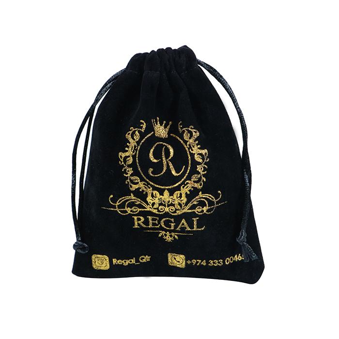 High Quality Reusable Black Drawstring Satin Bag Cloth Shopping Bag Silk Bag