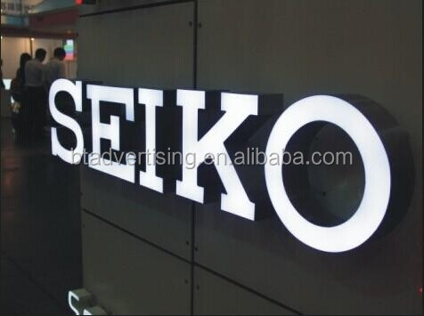 Factory Outlet Stainless steel backlit led letter signs in store, backlit metal signages,illuminated commercial signs