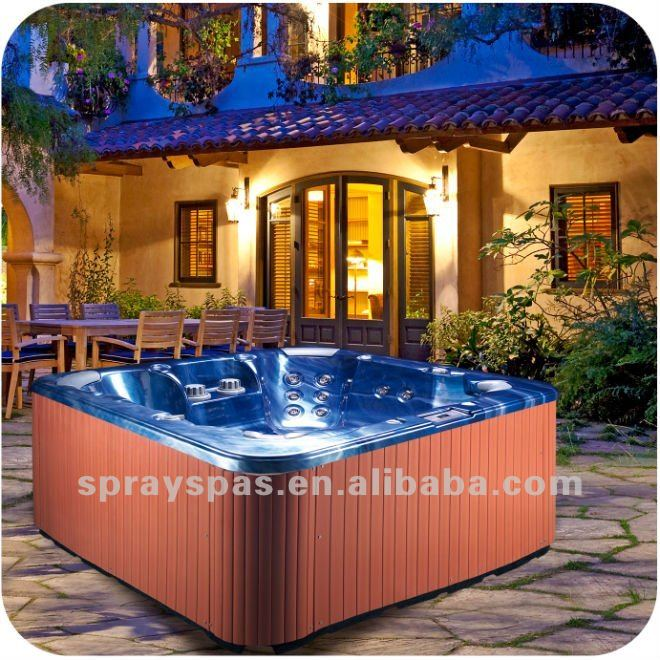 2012 Newly Aristech Acrylic for Outdoor Spa massage bathtub