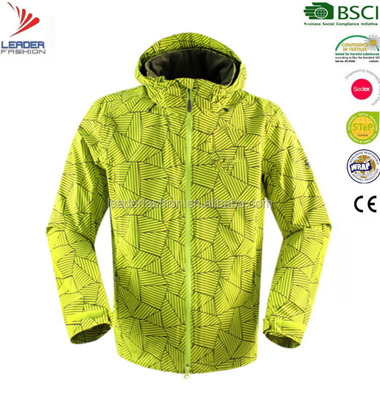 Men'S Seam Sealing 100% Polyester Lightweight outdoor Rain Waterproof jacket