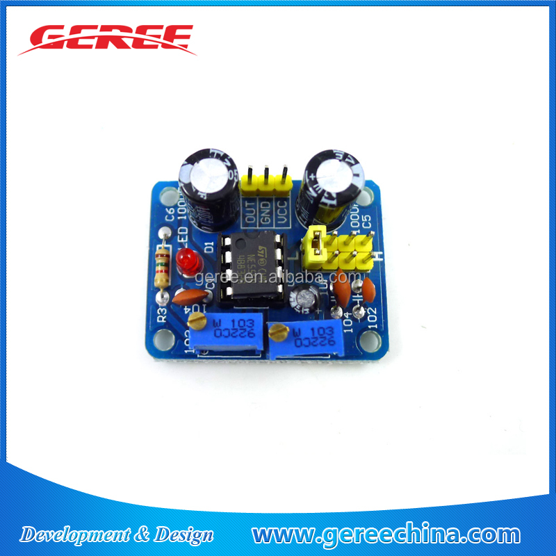 NE555 Duty Cycle and Frequency Adjustable Square Wave generator Module