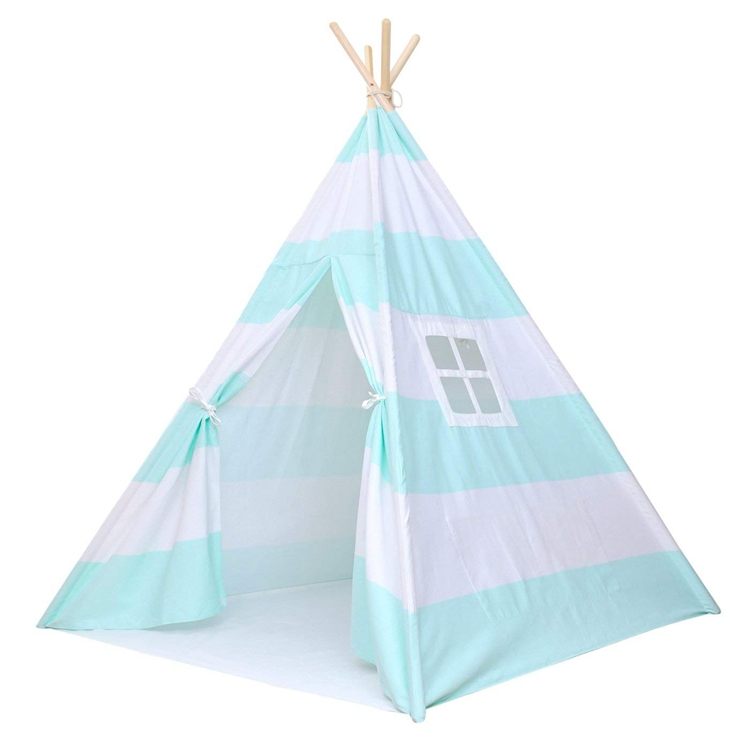 Waterproof Castle Outdoor Tepee Tent Inflatable Kids Camping Canvas Tipi Teepee Bed Set