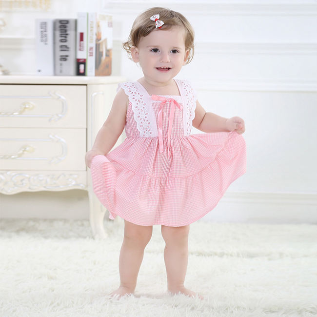 527025aac93e4 Sweet Floral Cotton Knotbow Birthday Baby Dress For One Year Old Kids Girls  Dresses Summer Pageant Dress SBD154002